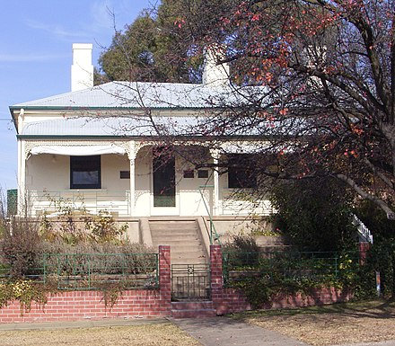 Ben Chifley's House at 10 Busby Street, Bathurst, now a heritage site and house museum Chifley House, Bathurst.jpg