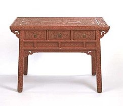 Chinese lacquerware table