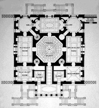 Chiswick House - Plan of Chiswick House