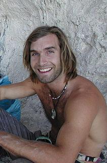 Chris Sharma American rock climber