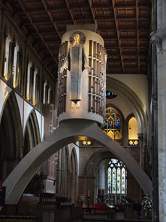 1955 in art - Image: Christ in Majesty, Llandaff Cathedral