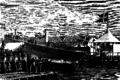 Christian Eckardt - Lindormen søsættes - 1868.png