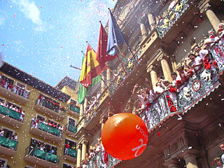 San Fermín annual festival in the city of Pamplona (Navarre, Spain)