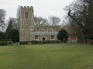 Offord Cluny village in the United Kingdom
