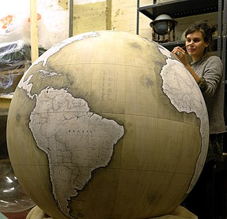 Bellerby & Co, Globemakers - Image: Churchill globe being painted