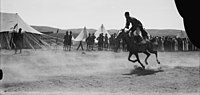 Circassian horsemanship during Sir Herbert Samuel's second visit to Transjordan.jpg