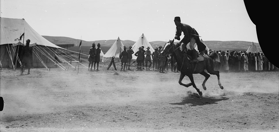 Circassian horsemanship during Sir Herbert Samuel's second visit to Transjordan