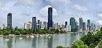 City Botanic Gardens, Brisbane and Brisbane Skytower under construction in December 2018, 02.jpg