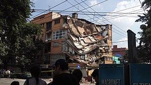 2017 Central Mexico earthquake - Image: Ciudad de México Terremoto Puebla 2017 3