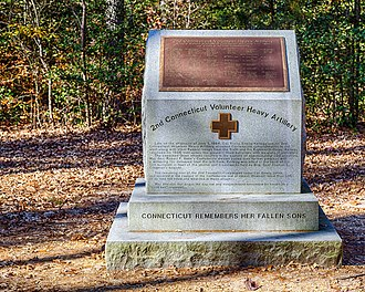 2nd Connecticut Heavy Artillery Regiment - Monument at Cold Harbor battlefield