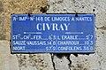 Civray 86 Plaque routière Second Empire 2013.jpg