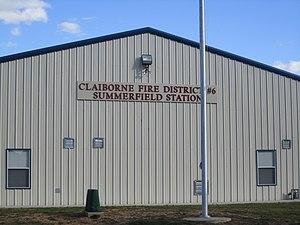 Summerfield, Louisiana - Claiborne Fire District station in Summerfield