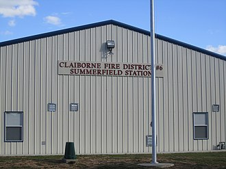 Summerfield, Louisiana - Claiborne Fire District station in Summerfield
