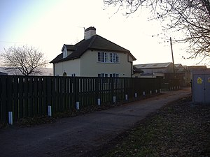 Weston, Clevedon and Portishead Light Railway - The location of Clapton Road Halt near Portishead.