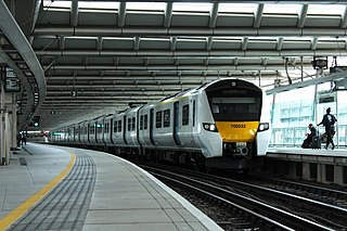 British Rail Class 700 Electric multiple unit in use on Thameslink