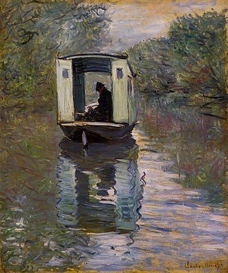 Kinetic art - Claude Monet, Atelier sur Seine (1876)