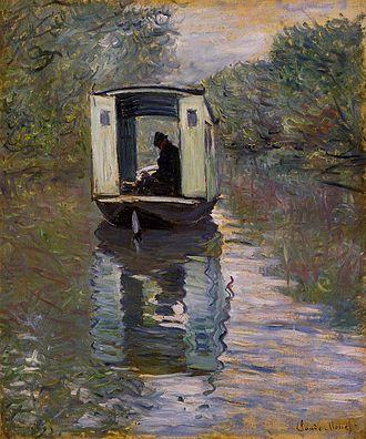 Kinetic art - Claude Monet, Atelier sur Seine (1876)