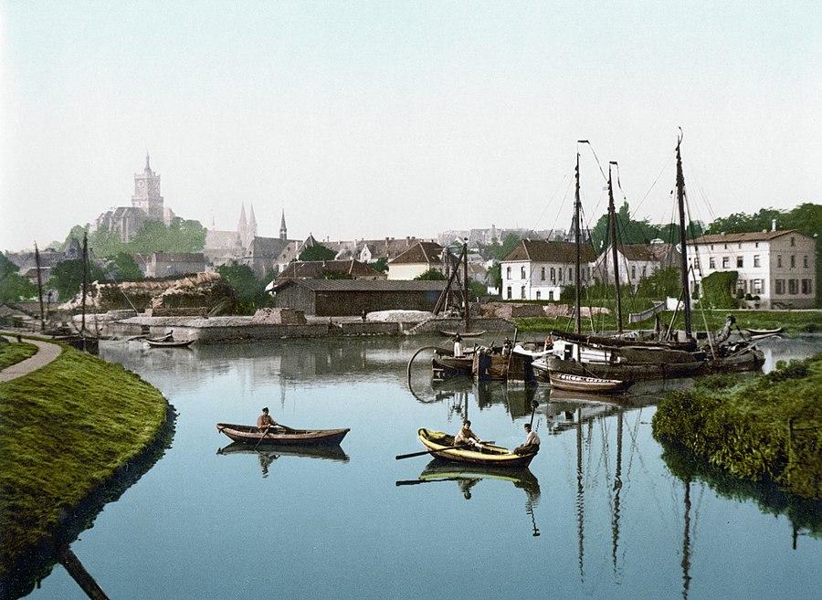 Cleve Stadt und Hafen (um 1895)