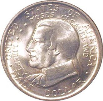 Moses Cleaveland - Image: Cleveland centennial half dollar commemorative obverse