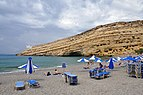 Cliff of the Matala Bay, Crete, Greece 003.jpg