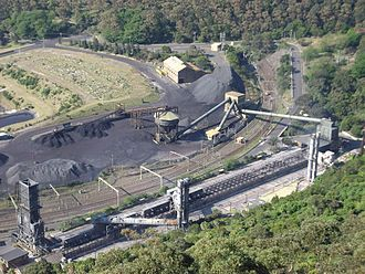 Coalcliff, New South Wales - The Illawarra Coke Company (ICC) in Coalcliff. The electrified South Coast railway line passes through its site.