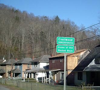 Coalwood, West Virginia - Image: Coalwood, WV