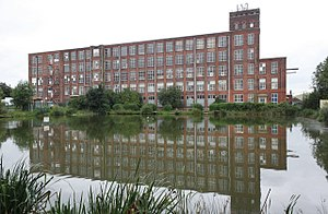 Listed buildings in Farnworth - Image: Cobden Mill geograph.org.uk 3104780