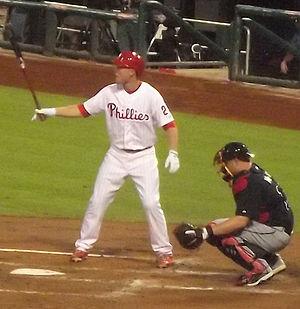 Cody Asche - Asche batting on September 7, 2013