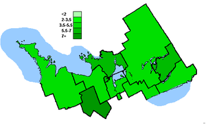 Canadian federal election results in Central Ontario - Green Party of Canada