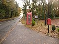 Cold Harbour, postbox No. BH20 186 and phone box - geograph.org.uk - 1591267.jpg