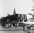 Collectie NMvWereldculturen, TM-20001054, Negatief, 'Taman Mini Indonesia Indah met op de achtergrond een nagebouwde kerk', fotograaf Boy Lawson, 1977.jpg