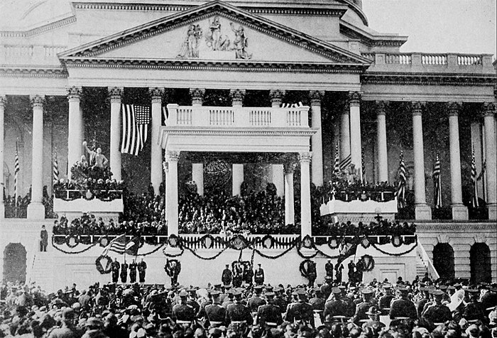 Collier's 1921 United States of America - Presidential Inaugural on East Front of the Capitol.jpg