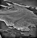 Columbia Glacier, Heather Island, Calving Terminus with Oblique View of Valley Glacier, September 3, 1971 (GLACIERS 1169).jpg