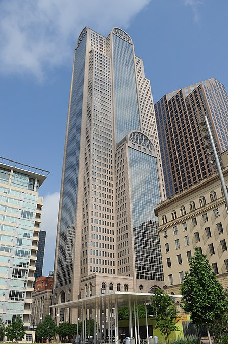 Comerica Bank Tower, Comerica Bank's national headquarters in Downtown Dallas Comerica Bank Tower 01.jpg