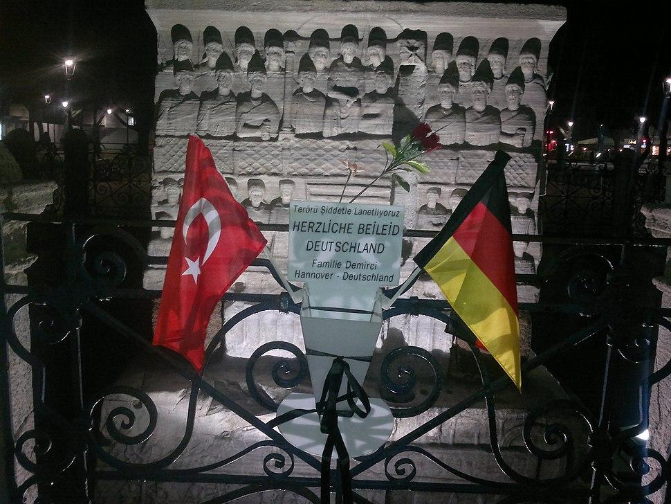 Commemoration of Istanbul terroristic act