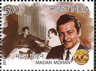 Madan Mohan (composer) - Mohan on a 2013 stamp of India.jpg