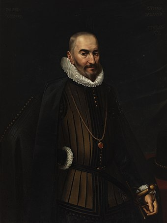 Diego Sarmiento de Acuna, count of Gondomar, was one of the main advocates of voting rights at the Council of Castile. A humanist ambassador and lover of the Galician language and culture, he was respected and appreciated in the kingdom and abroad; c. 17th century Conde de gondomar.jpg