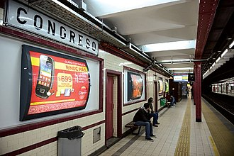 Congreso (Buenos Aires Underground) - Image: Congreso GCBA(3)