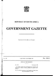 Constitution of the Republic of South Africa Second Amendment Act 1998 from Government Gazette.djvu