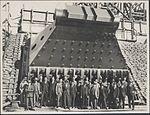 Construction of Sydney Harbour Bridge main bearing, 1927 (8282707405).jpg