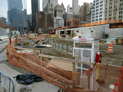 Construction site near 911 Memorial in New York City