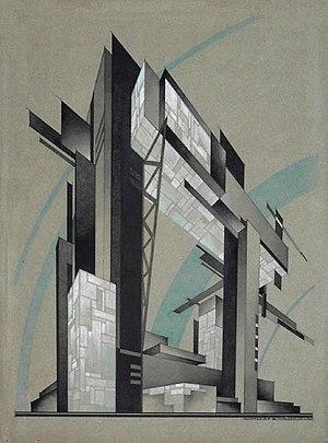 Nikolai Vasilyevich Vasilyev - Constructivist Study (c.1931)