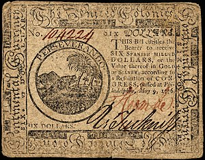 Continental Currency $6 banknote obverse (May 9, 1776).jpg