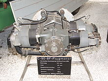 Continental Motors C 90 8f Aircraft Engine In Technik Museum Speyer