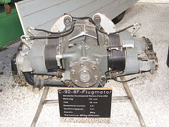 Continental Motors, Inc. - Continental Motors C-90-8F aircraft engine in Technik Museum Speyer