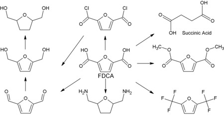 Figure 2: Derivatives of FDCA[8]​[9]​