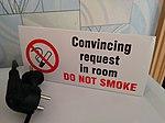 Convincing request in room DO NOT SMOKE - Hotel Avia room.jpg
