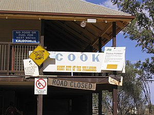 Cook, South Australia - A disused building in Cook