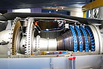 Core section of a sectioned Rolls-Royce Turboméca Adour turbofan.jpg