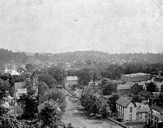 Corydon, Indiana - Corydon in 1896, looking southward from Walnut Street